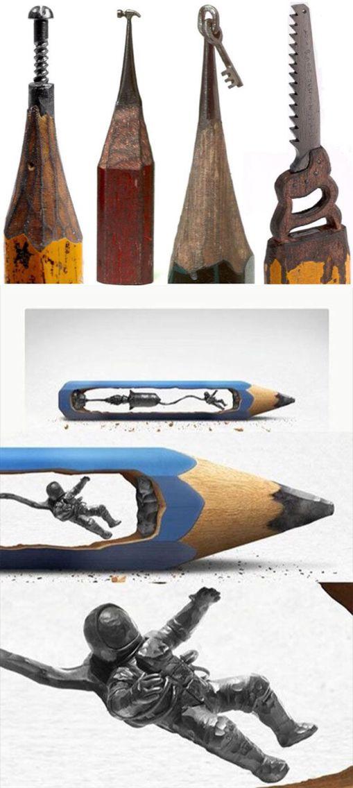 Unique Lead Pencil Ideas On Pinterest Art Installation Art - Artist carves miniature pop culture sculptures into pencils