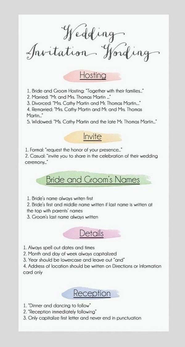 Wedding Invite Etiquette Wording: 75 Best Wedding Planning Tips Images On Pinterest