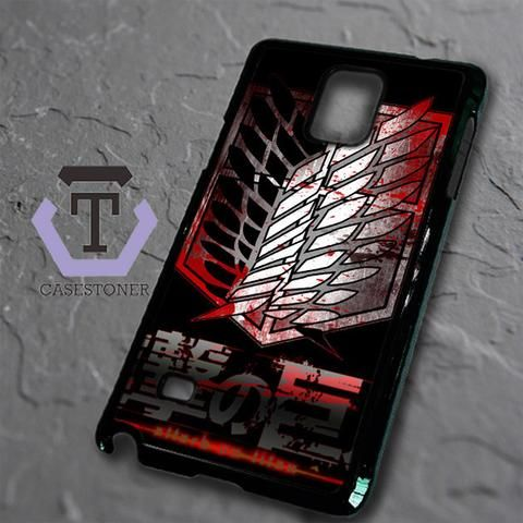 Attack On Titan Military Blood Logo Samsung Galaxy Note Edge Black Case