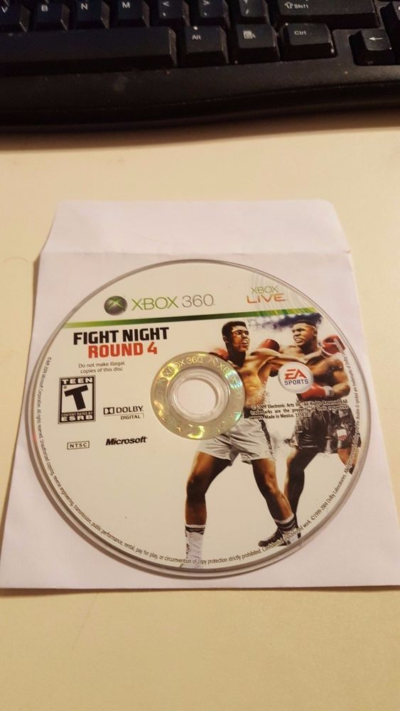 Fight Night Round 4 (Microsoft Xbox 360, 2009) Disc Only