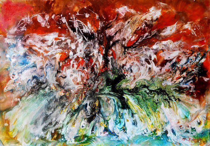 Купить Современная живопись Летний зной в абстрактном стиле - живопись абстракция, асбтракция, абстрактная живопись