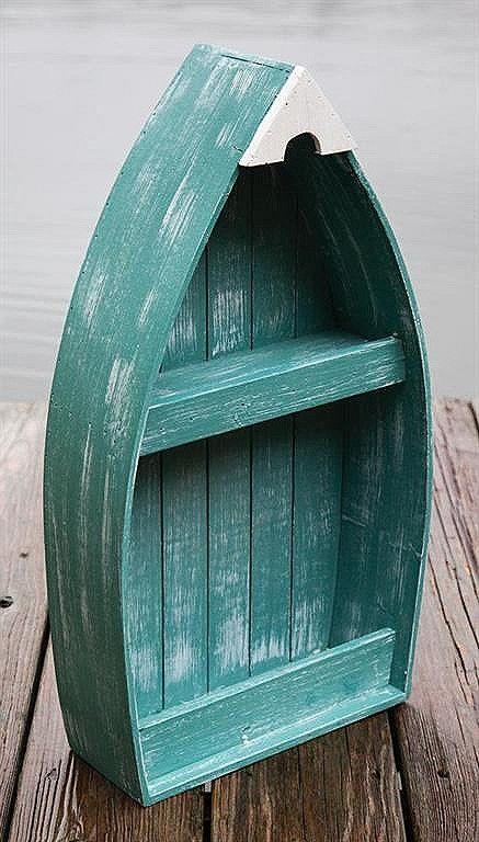 """21"""" Turquoise Boat Shelf"""