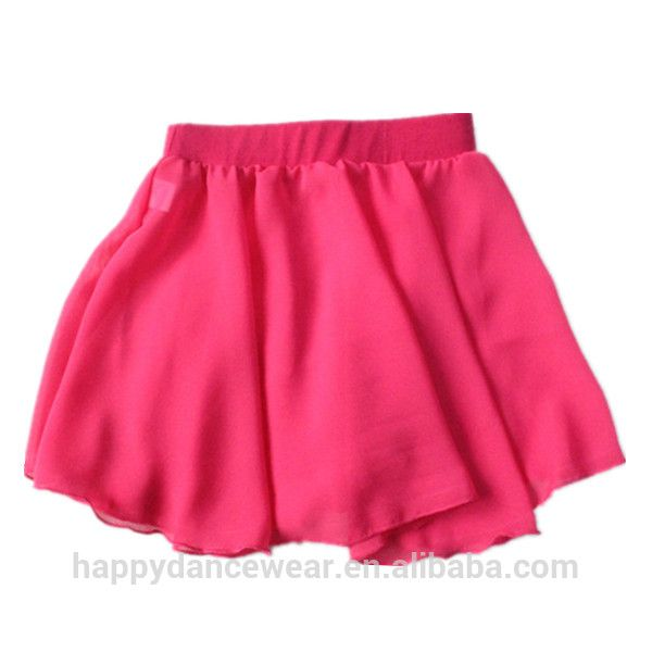 Wholesale Ballet Dance SKIRTS ONLY Deep Pink Cotton/Lycra Waistband Chiffon Pull-on Skirt Girls Dancewear Women Costume