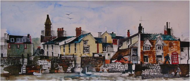 Sue Howells Windy Day, Broughty Ferry Signed Limited Edition Print   Contemporary Art
