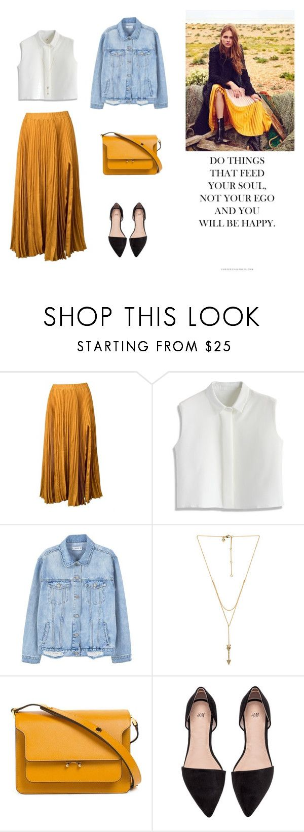"""13/04"" by dorey on Polyvore featuring Kaelen, Chicwish, MANGO, Rebecca Minkoff and Marni"