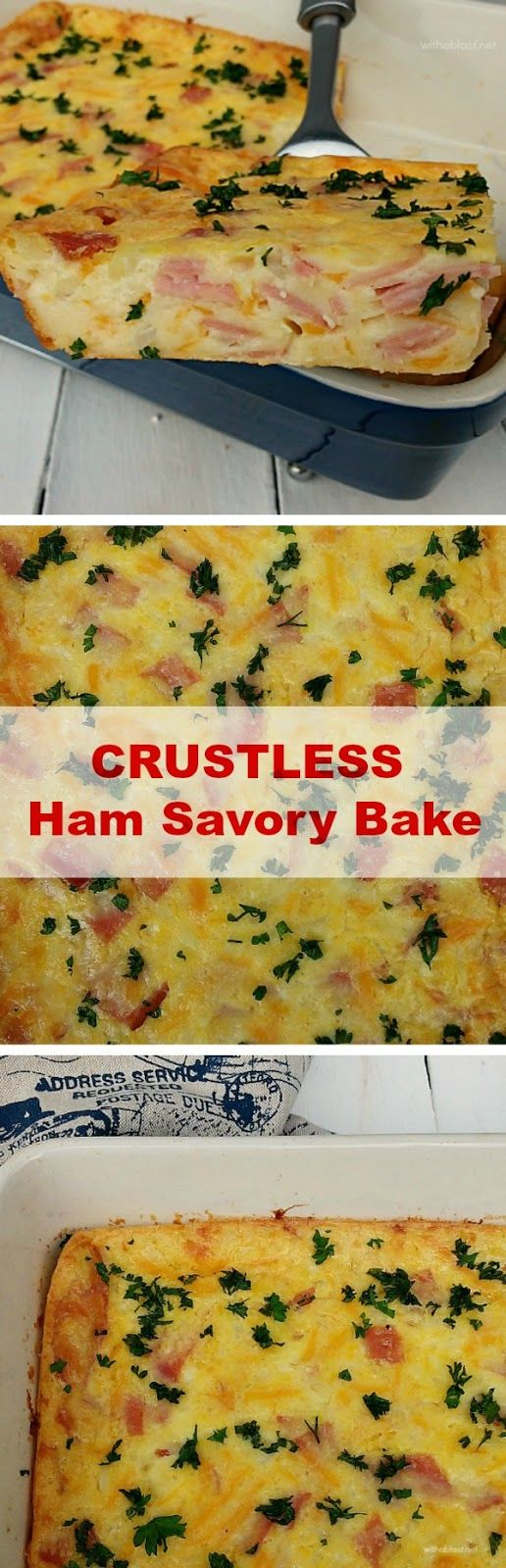 Leftover Ham after Easter ? Make this delicious Ham Savory Bake !