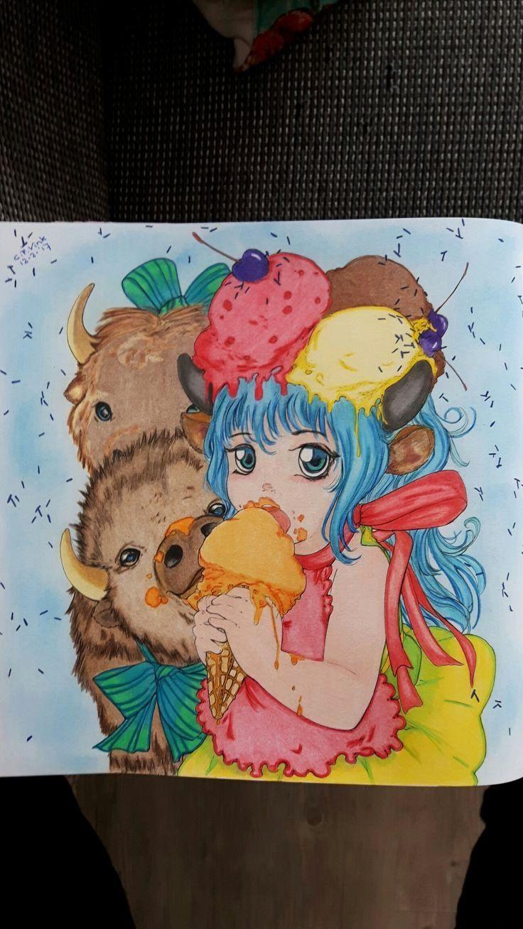 Pin By Daja Woods On Pop Manga Manga Coloring Book Coloring Books Enchanted Forest Coloring Book