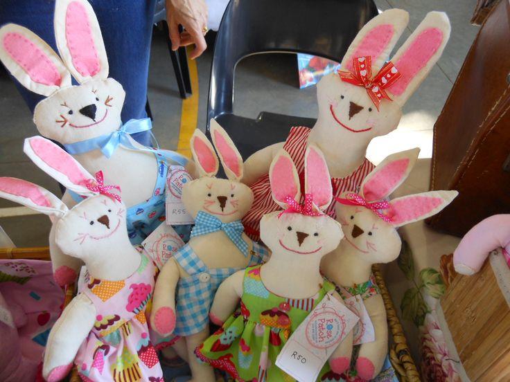 Lots of calico bunnies.