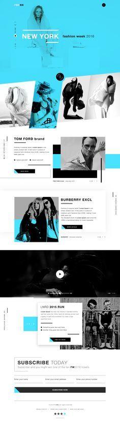 Fshnn landing page design fashion week famous brands dribbble full