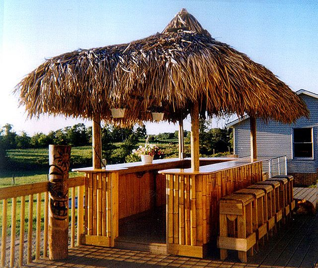 Lovely Tabletop Tiki Bar Hut