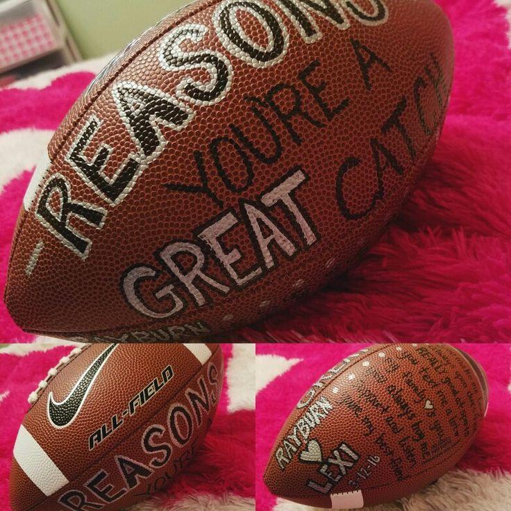 Lexi's Boyfriend Valentine's Birthday Football Sports keepsake football!! Sharpie football! Gift ideas!