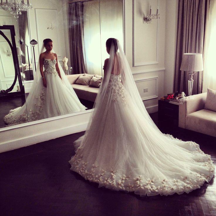 Yasmine Yeya wedding dress   hautecouture