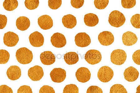 Pobieraj - Złote ręcznie malowane tła polka dot — Obraz stockowy #114376552
