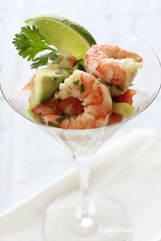 Ceviche : Servings: 9 • Size: 1/2 cup salad + 1/4 cup lettuce • Old Points: 3 pts • Points+: 3 pt Calories: 100 • Fat: 4 g • Carb: 5 g • Fiber: 2 g •...