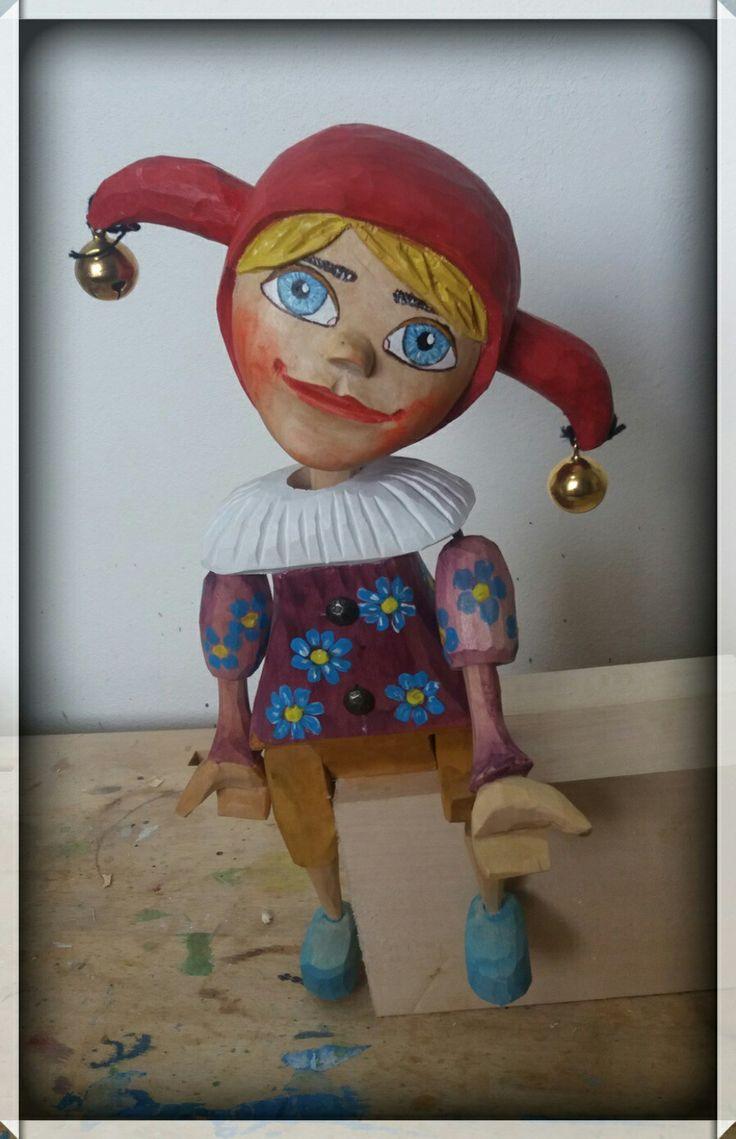 Jester marionette puppet,was borne 2018