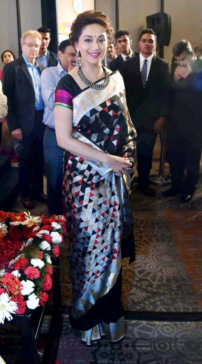 black sari