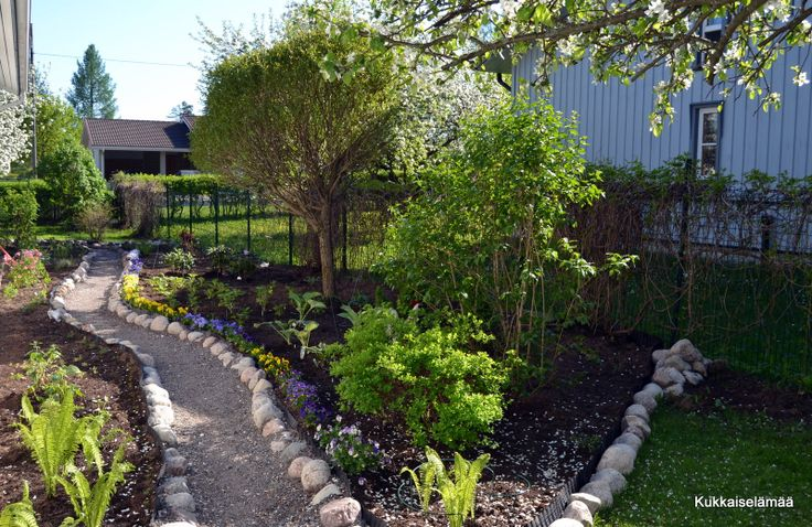 A new planting area and path