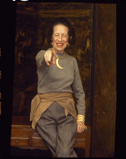 """""""I shall die young. I don't know whether it will be at 70, 80 or 90. But I shall die young!"""" Diana Vreeland"""