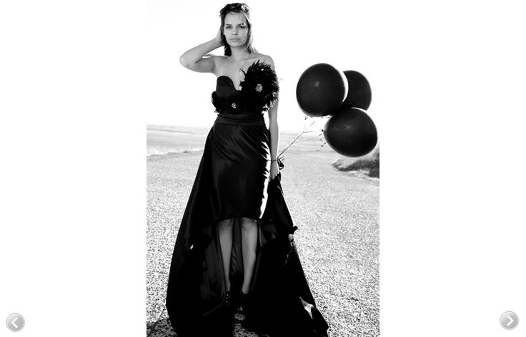 Natalia Trisolino  Black and white picture. Sweet heart neckline evening gown. Custom designed.   www.nataliatrisolino.com