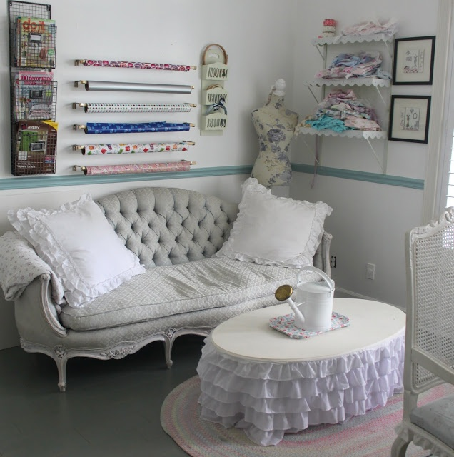 17 best images about creative craft rooms on pinterest for Shabby chic craft room
