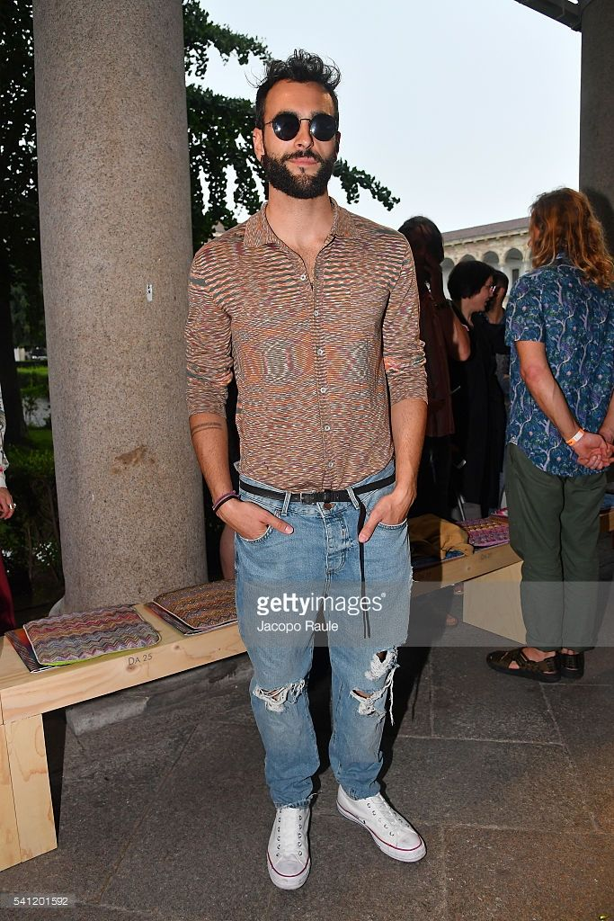 Marco Mengoni attends the Missoni show during Milan Men's Fashion Week SS17 on June 19, 2016 in Milan, Italy.