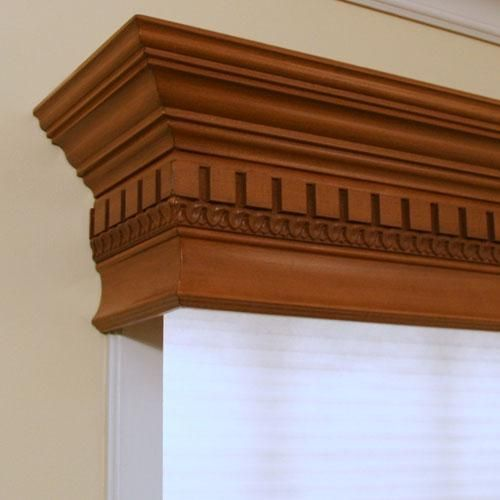 Just found the perfect window treatments!! - Blinds.com. – Wood Cornices #homedecor #blinds #cornices