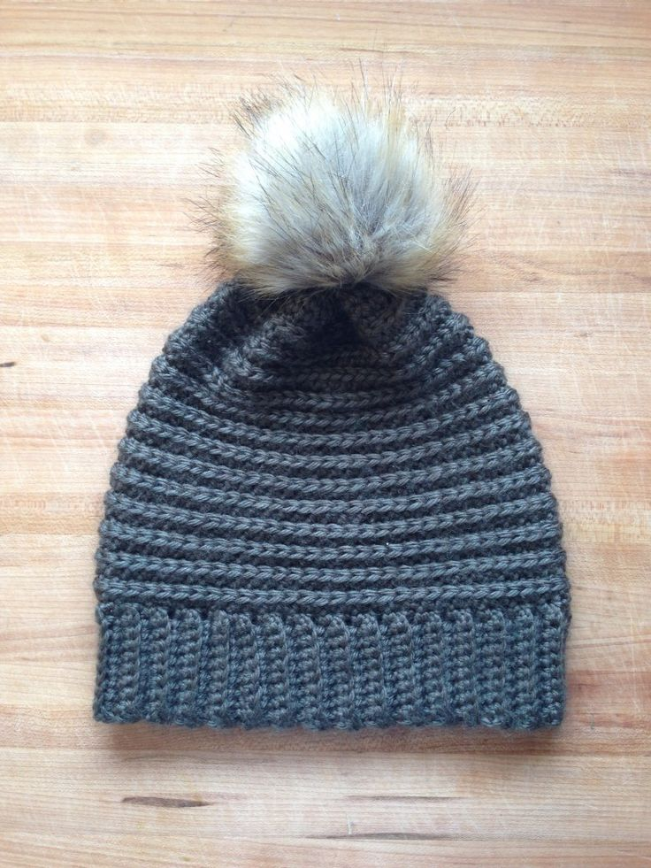 Free pattern for a beautiful crochet textured beanie. The single crochet in the 3rd loop gives an awesome ribbed effect.