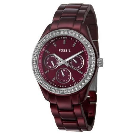 Fossil Stella Boyfriend Aluminum Watch - Berry