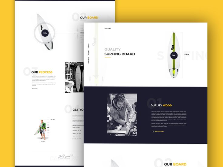 Surfing Factory Landing page Design