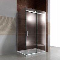 Paroi de douche fixe et porte coulissante EX806, en verre de sécurité traitement NANO - 90 x 140 x 195cm    acheter en ligne