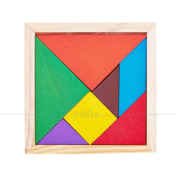 Coloful Wooden Tangram Custom Jigsaw Puzzles #wooden #tangram #jigsaw #puzzles #cellz