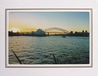 """Photo enlargement of the Sydney Opera House - Blue Sunset 8"""" x 6"""" in a soft frame. You can buy this photo enlargement for $15.95 delivered. www.theshortcollection.com.au/page/photo-enlargement-small"""