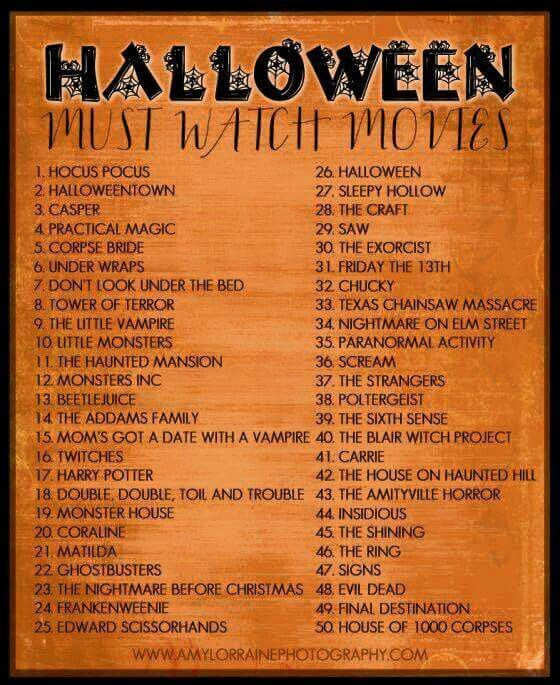 Halloween must watch movies