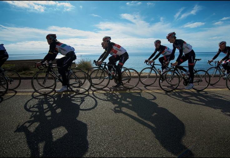 Radioshack, Nissan, Trek training ride