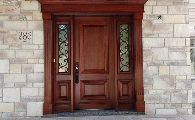 Wooden entry door - Bourassa Doors