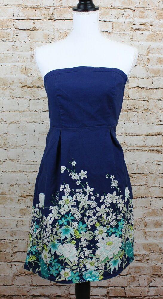 49b601b26 #DenimDress Junior/Woman Denim Floral Strapless Dress Size 2 Old Navy - Denim  Dress