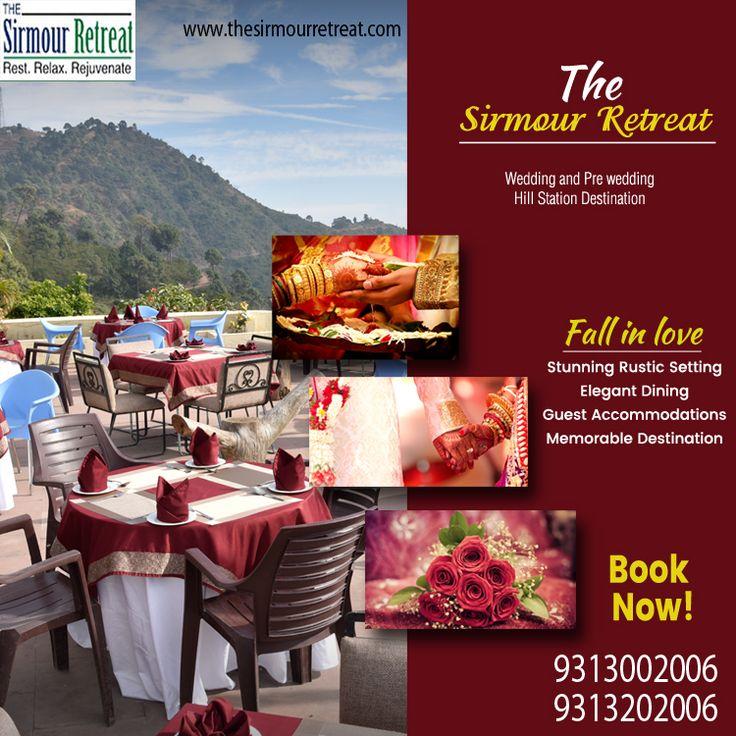 Make your wedding memorable? 🎊🎉 Plan your #WeddingDestination at The Sirmour Retreat in #Nahan, #Himachal. 😊😀 👉 Visit - https://goo.gl/qPszow ☎️ Call - +91-9313002006 / +91-9313202006