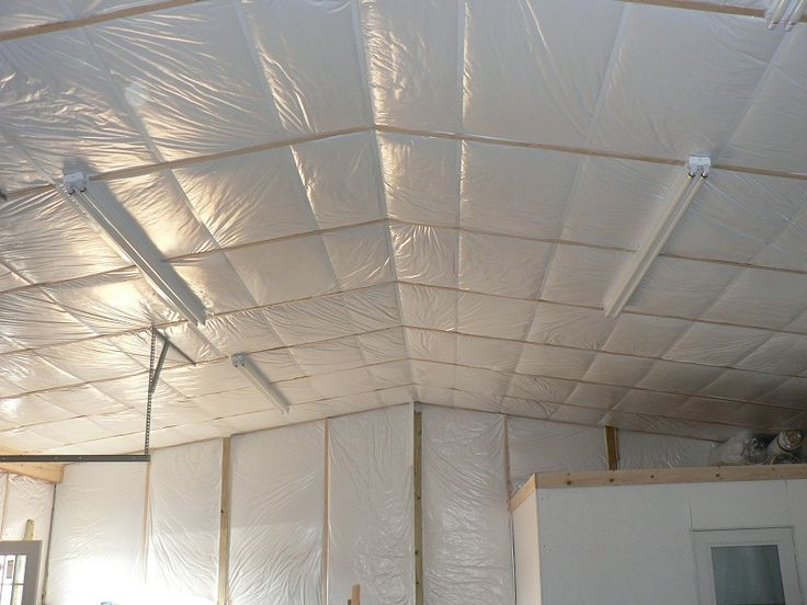 Pole Building Insulation W Gymguard Facing Installed In