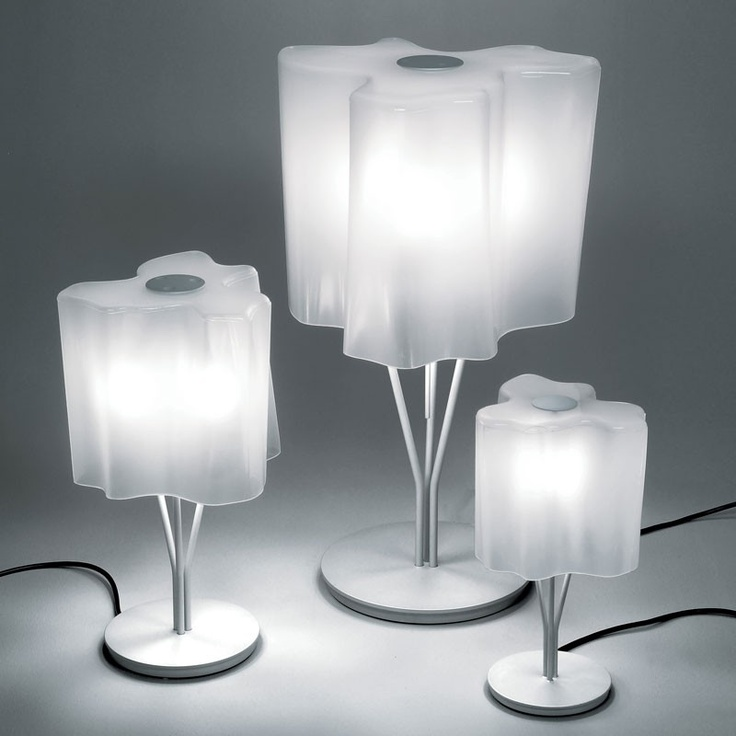 lamp by artemide is a stylish and modern indoor table lamp to illuminate your living space technical info color white glass voltage fitting lamps - Artemide Lighting