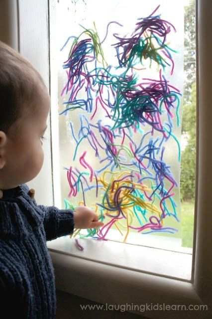 Fun activity for #toddlers and babies using contact paper #kidsart
