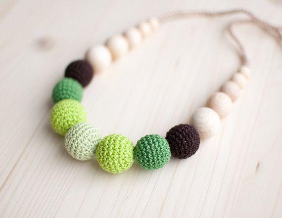 Teething necklace / Crochet nursing necklace Shades by SvetlanaN