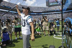 Curry was extremely excited about Panthers' win