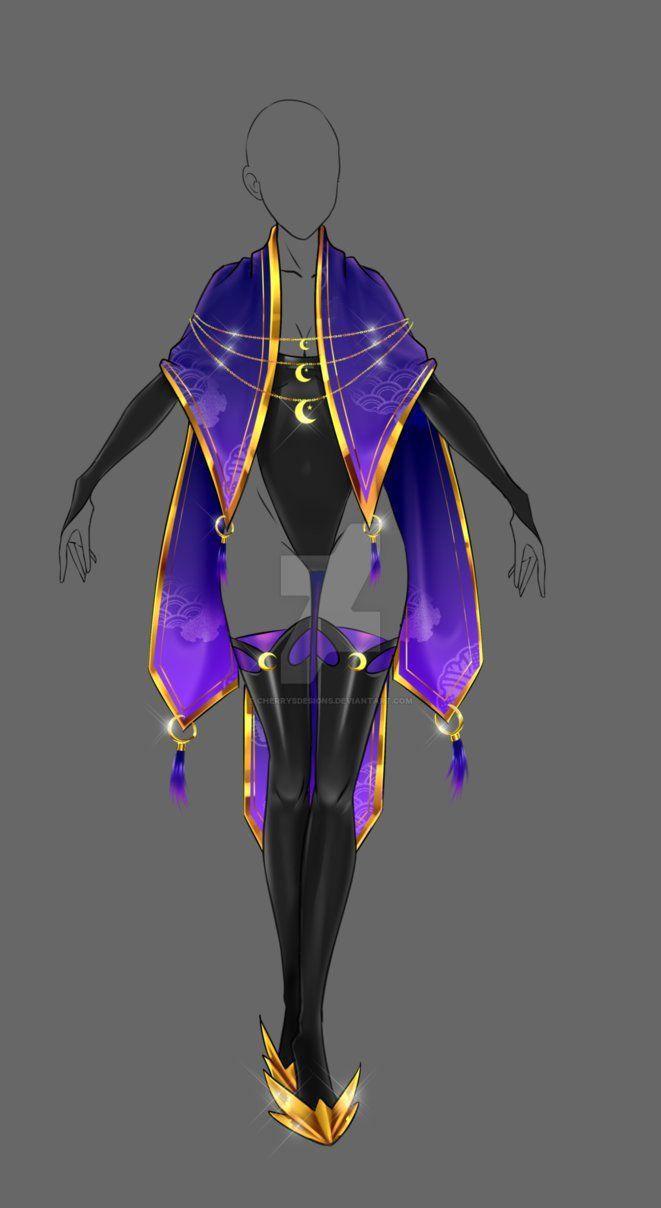 (closed) Auction Adopt - Divine Mage Outfit by CherrysDesigns.deviantart.com on @DeviantArt