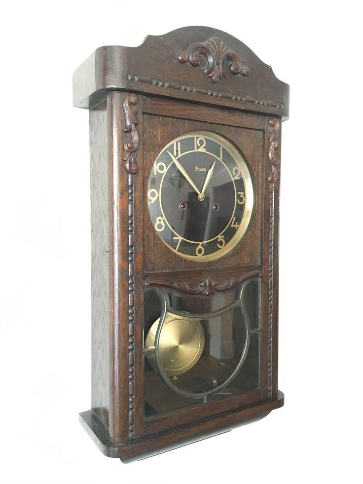 Junghans Antique Vintage Wall Old Clock U2022 £145.00   PicClick UK