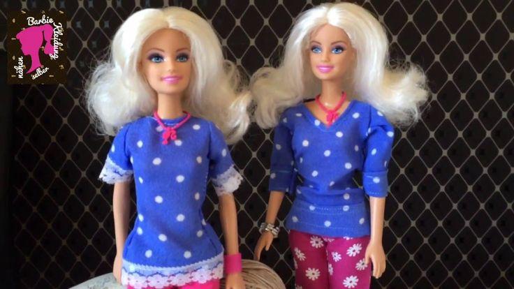 Barbie Bluse selber nähen. - YouTube