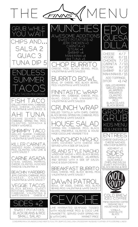 David S New Orleans Style Cafe Sno Balls Menu