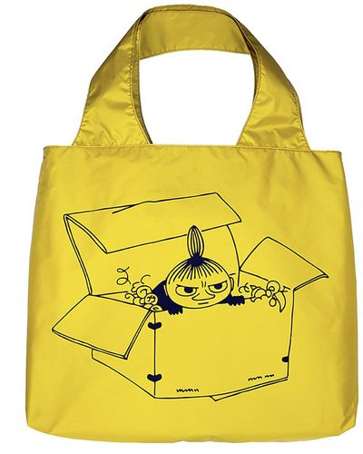 Muumi Eco Bag, Pikku Myy, keltainen. Voidaan toimittaa yksistään kirjetoimituksena 2,50€ kuluilla.