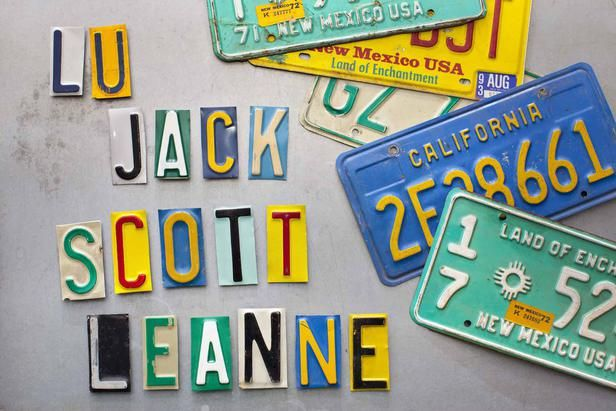 How to make magnets with old license plates.