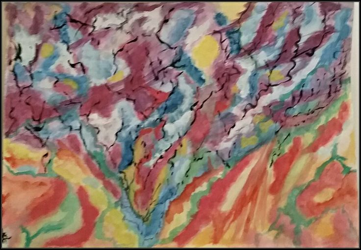 Original abstract  watercolour on paper  by  Irena Kristina Rose Forrester      Copyright  2013  all rights reserved