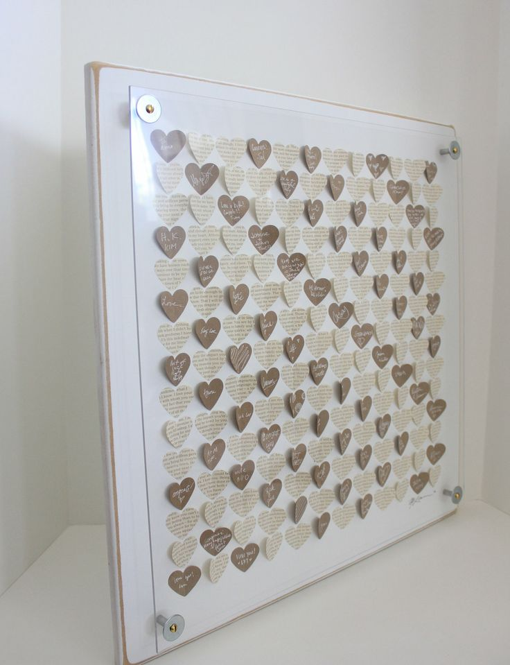 """Creative guest book alternative. I love guest books that you can display and actually see/read every day to remind you of the awesome support system you have. Could also be used for """"well wishes""""."""